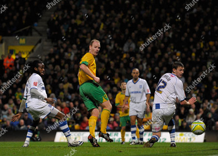 Gary Doherty of Norwich City Back Heels the Second Goal For His Side Past Ash Taylor of Tranmere Rovers 2-0 United Kingdom Norwich