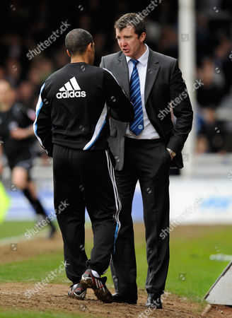 Newcastle United Manager Chris Hughton Shakes Hands with Counterpart Peterborough United Manager Jim Gannon United Kingdom Peterborough
