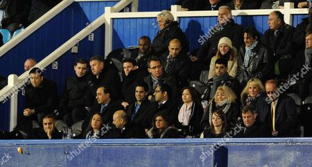 The Portsmouth Chief Executive Officer Peter Storrie Far Right Watches the Game From the Directors Box United Kingdom Portsmouth