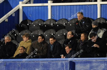 Only Marc Jacob and Peter Storrie of the Portsmouth Board Are Present at the Game United Kingdom Portsmouth