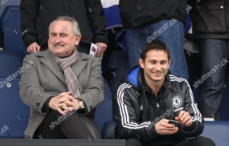 Frank Lampard of Chelsea Sits in the Directors Box with His Father Frank Lampard Snr United Kingdom London