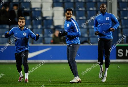 Commercial & Marketing: Michael Petrasso Leroy Fer and Samba Diakite of Qpr During the Sky Bet Championship Match Between Qpr and Hull City Played at Loftus Road London On the 1st of January 2016 United Kingdom S Africa Rd, London