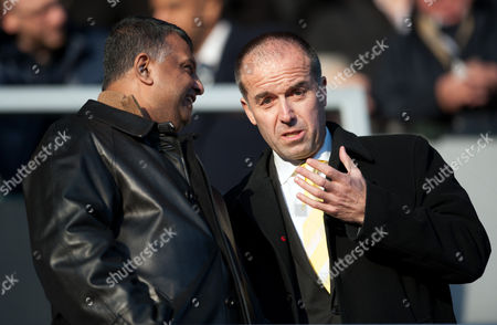 Qpr Chairman Tony Fernandes and Norwich City Chief Executive David Mcnally United Kingdom London