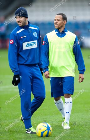 Dj Campbell and Adel Taarabt of Qpr United Kingdom London