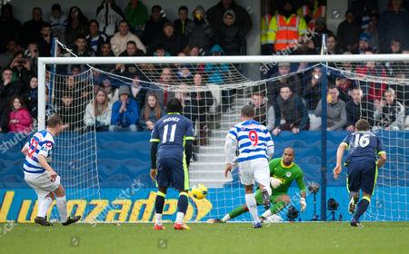 Heidar Helguson of Qpr Scores the Opening Penalty Goal United Kingdom London