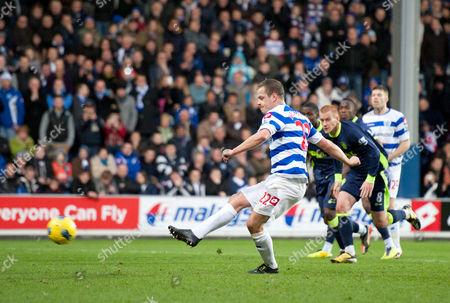Heidar Helguson of Qpr Misses A Penalty Goal United Kingdom London