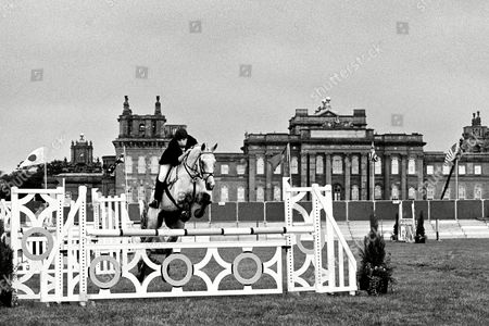 Stock Picture of Graham Law Riding Cabalva Moon in the Show Jumping Section of the International Three-day Event in the Grounds of Blenheim Palace Uk