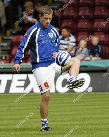 Heider Helguson of Queens Park Rangers During the Pre Match Warm Up United Kingdom Scunthorpe