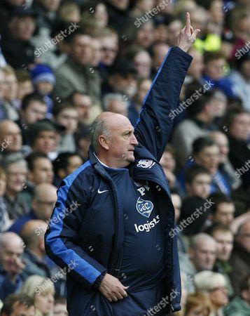 Crystal Palace Manager Paul Hart Points Upwards United Kingdom Sheffield