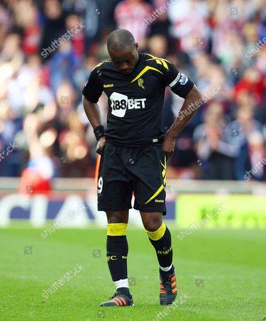 Nigel Reo-coker of Bolton Wanderers Looks Dejected at the End of the Game United Kingdom Stoke
