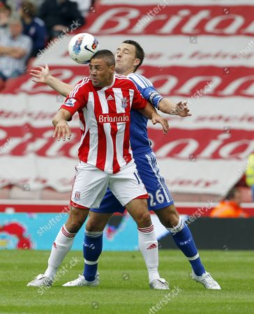 Jonathan Walters of Stoke City and John Terry of Chelsea United Kingdom Stoke