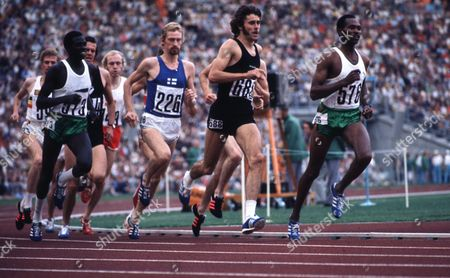Pekka Vasala of Finland (blue 226) Comes From Behind to Win Gold in Men's 1500m Final From Rod Dixon of New Zealand (second From R) Who Won Bronze and Silver Medallist Kipchoge 'Kip' Keino of Kenya (r) Athletics Olympic Stadium Munich Olympics 10 September 1972 United Kingdom Sunderland