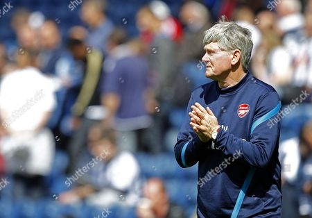 Arsenal Assistant Manager Pat Rice in His Last Match Before Retiring United Kingdom Birmingham