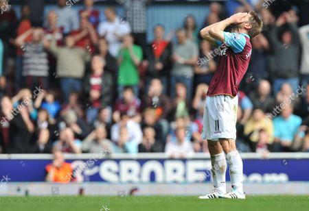 A Dejected Thomas Hitzelsperger of West Ham United United Kingdom London