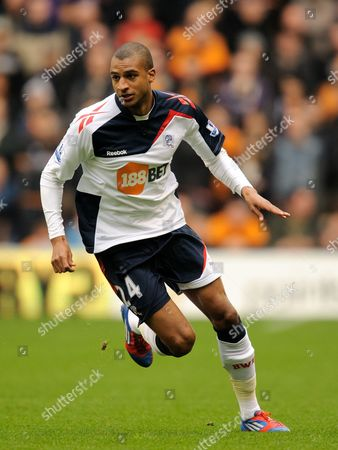 Stock Photo of David N'gog of Bolton Wanderers United Kingdom Wolverhampton