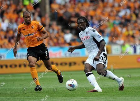 Karl Henry of Wolverhampton Wanderers and Dickson Etuhu of Fulham United Kingdom Wolverhampton