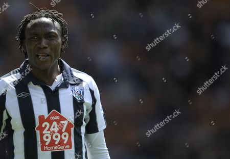 Somen Tchoyi of West Bromwich Albion United Kingdom Wolverhampton