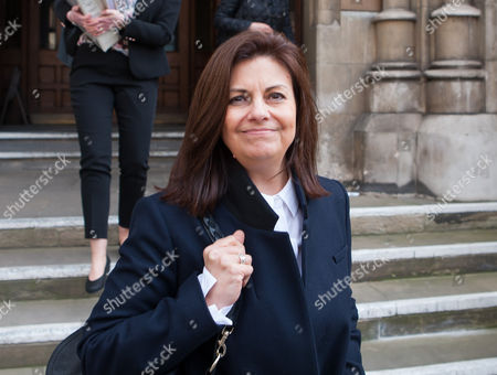 Stock Photo of Jacqui Hames leaves the High Court today.