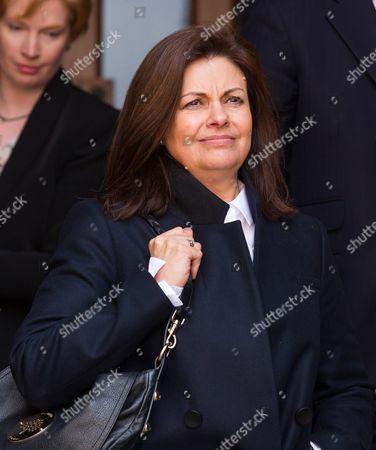 Stock Image of Jacqui Hames leaves the High Court today.