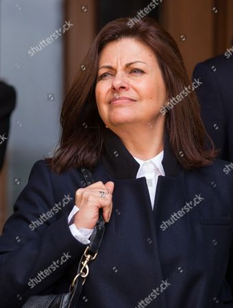Stock Picture of Jacqui Hames leaves the High Court today.