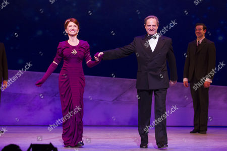 Jane Asher (Madame Baurel) and Julian Forsyth (Monsieur Baurel) during the curtain call