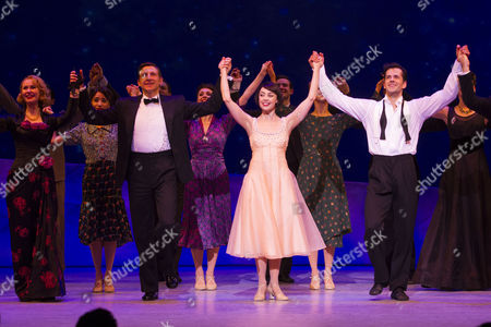 Zoe Rainey (Milo Davenport), Haydn Oakley (Henri Baurel), Leanne Cope (Lise Dassin) and Robert Fairchild (Jerry Mulligan) during the curtain call