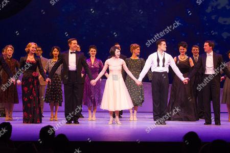 Zoe Rainey (Milo Davenport), Haydn Oakley (Henri Baurel), Leanne Cope (Lise Dassin), Robert Fairchild (Jerry Mulligan) and David Seadon-Young (Adam Hochberg) during the curtain call