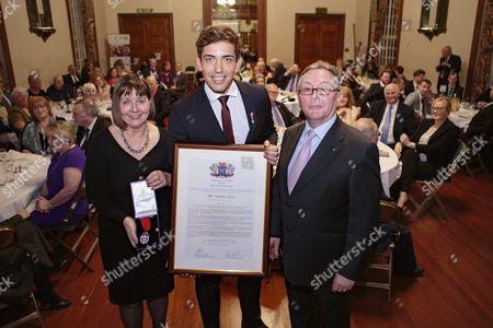 James Fox with City Council CEO Gillian Beasley and Councilor Peter Hiller