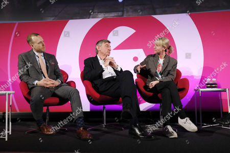Chris Hirst (UK Chairman, European CEO, Havas Media), Nigel Carrington (Vice-Chancellor, University of the Arts London) and Kate Mosse (Author and Director, The National Theatre)