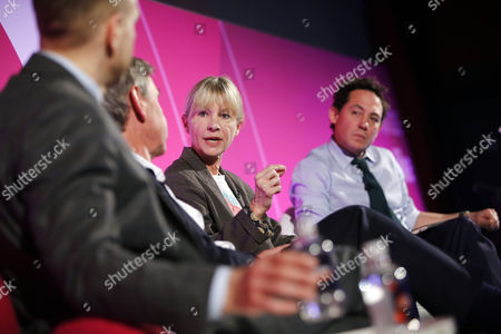 Chris Hirst (UK Chairman, European CEO, Havas Media), Nigel Carrington (Vice-Chancellor, University of the Arts London), Kate Mosse (Author and Director, The National Theatre) and Simon Jack (Business Editor, BBC)