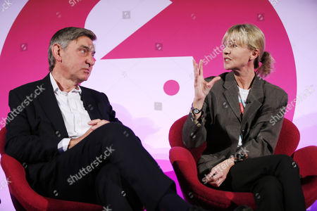 Nigel Carrington (Vice-Chancellor, University of the Arts London) and Kate Mosse (Author and Director, The National Theatre)