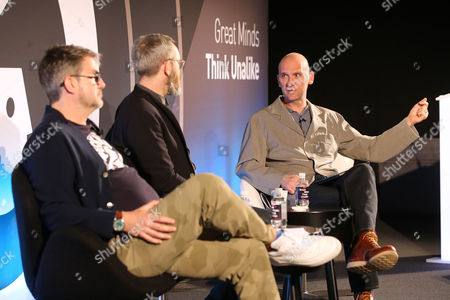Stock Photo of Jon Wilkins (Executive Chairman, Karmarama), James Purnell (Director - Radio and Education, BBC) and Jez Nelson (CEO and CCO, Somethin' Else)