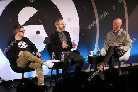 Jon Wilkins (Executive Chairman, Karmarama), James Purnell (Director - Radio and Education, BBC) and Jez Nelson (CEO and CCO, Somethin' Else)
