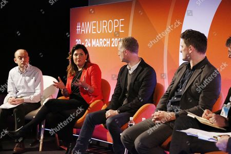 Editorial image of Rewriting the TV Playbook - what's in store in the 2020's? workshop, Advertising Week Europe 2017, Workshop Stage, Picturehouse Central, London, UK- 23 Mar 2017