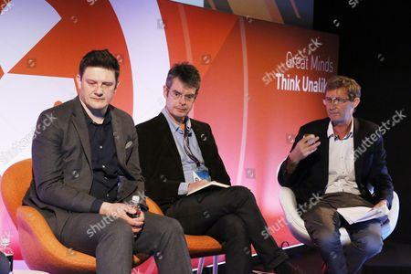 Zai Bennett (Director of Programmes, Sky), Ben Preston (Editor, Radio Times), Nic Newman (Research Associate, Reuters Institute for the Study of Journalism)