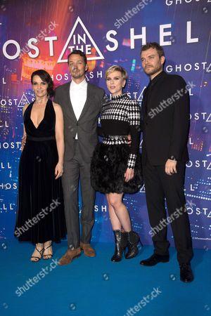 Juliette Binoche, Rupert Sanders, Scarlett Johansson and Pilou Asbaek