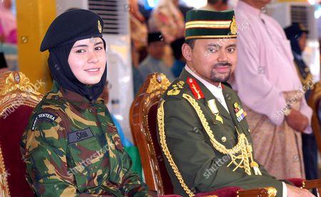 Brunei Crown Prince Haji Al Muhtadee Billah and his wife