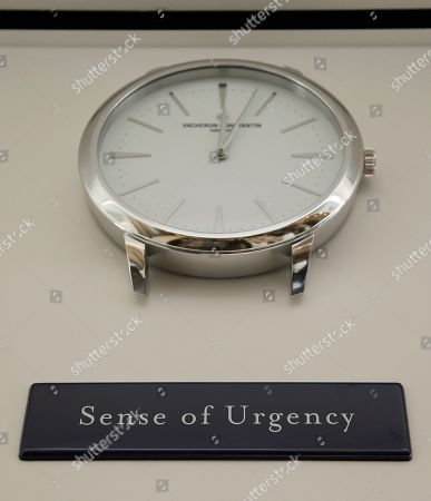 A plaque expressing a sense of urgency hangs below a clock inside the new kitchen at the French Laundry restaurant in Yountville, Calif. Celebrated chef Thomas Keller has just opened a state-of-the art new kitchen at his famed French Laundry after spending $10 million on an extensive renovation