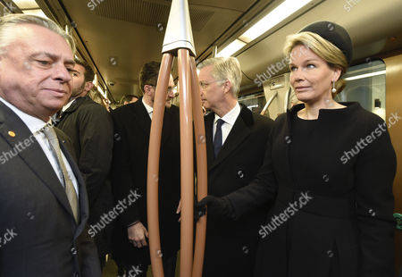 King Philippe, Queen Mathilde and Pascal Smet