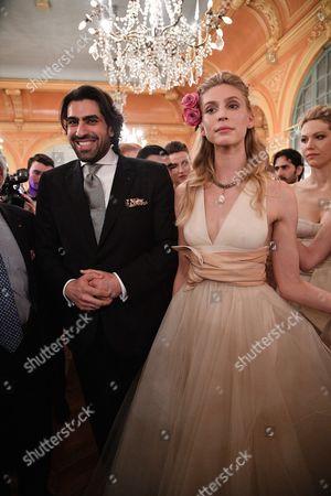 Stock Image of Nora Arnezede and Prince Salman ben Abdelaziz ben Salman Al Saud of Saudi Arabia of Saudi Arabia