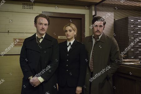 Stock Photo of Tommy McDonnell as Dc Hudson, Stefanie Martini as Jane Tennison, and Joshua Hill as Dc Edwards.