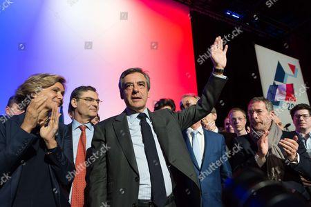 Valerie Pecresse, Patrick Devedjian and Francois Fillon.