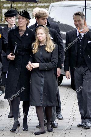 Stock Picture of Princess Alexandra of Sayn-Wittgenstein-Berleburg, Graf Jefferson, Graf Friedrich and wife Ingrid Alexandra