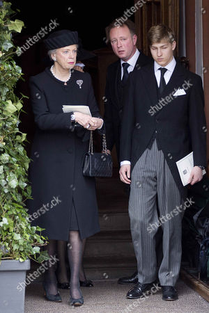 Stock Picture of Princess Benedikte + Prince Gustav of Sayn-Wittgenstein-Berleburg + Graf Friedrich