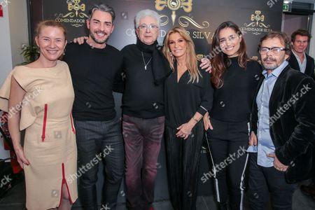Stock Picture of Julie Seargent, Claudio Ramos, Aguinaldo Silva, Cinha Jardim, Sandra Celas and Cassiano Cordeiro