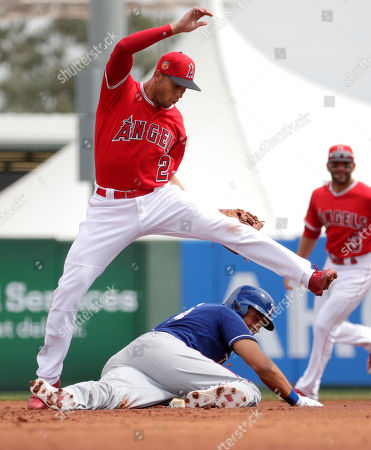 Editorial image of Texas Rangers v Los Angeles Angels, Spring training baseball game, Tempe, USA - 22 Mar 2017