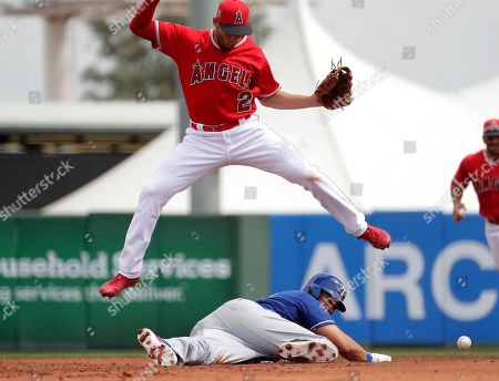 Editorial picture of Texas Rangers v Los Angeles Angels, Spring training baseball game, Tempe, USA - 22 Mar 2017