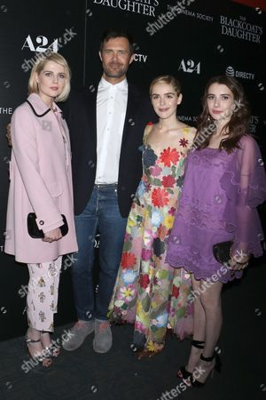 Lucy Boynton, Oz Perkins, director, Kiernan Shipka and Emma Roberts