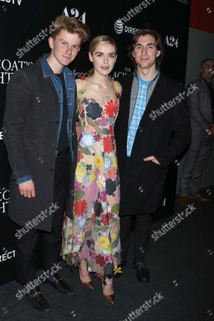Kiernan Shipka with friends Flynn McGarry and Isaac Spector