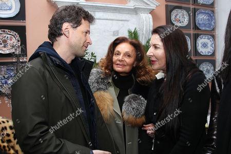 Stock Picture of Bennett Miller, Diane von Furstenberg and Marina Abramovic